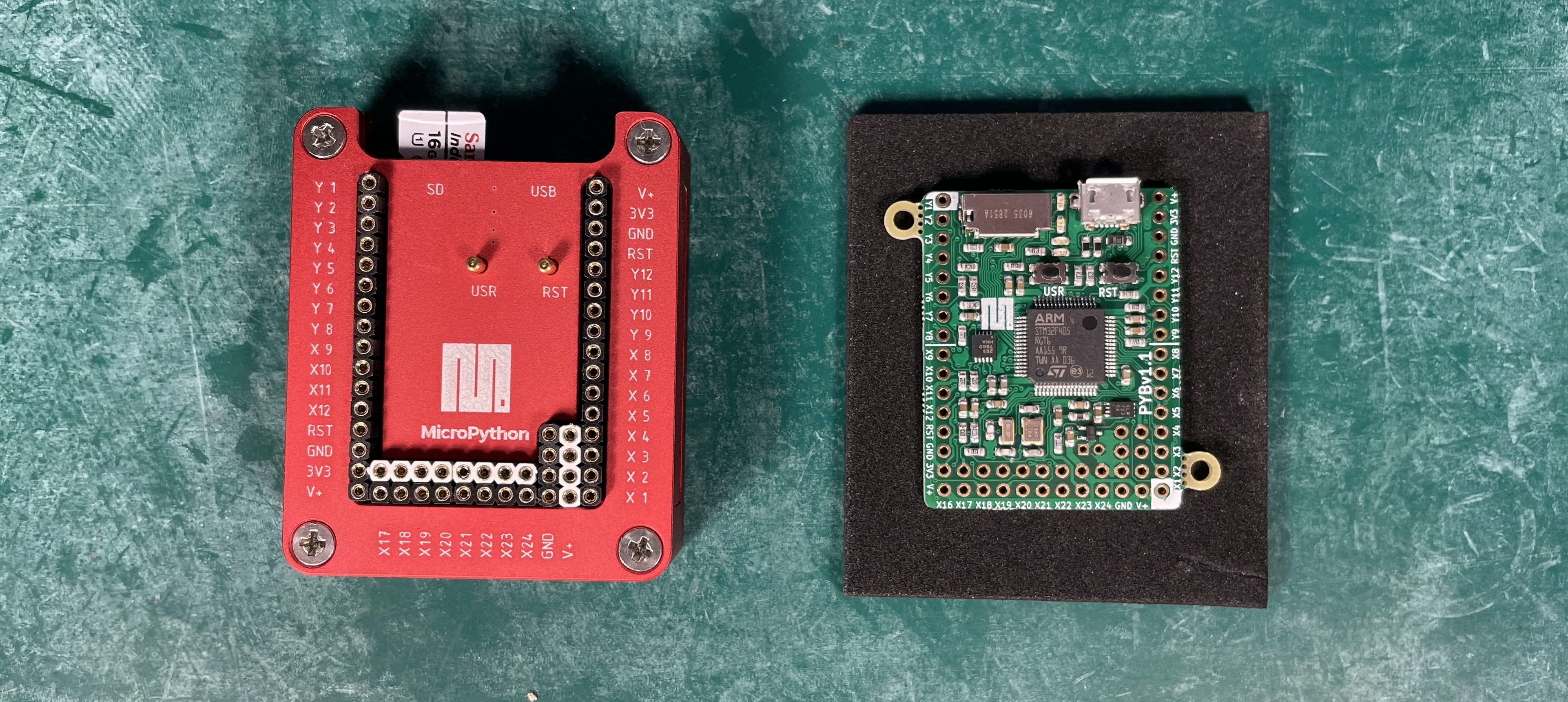 pyboard-and-case
